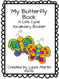 Here's a vocabulary booklet on the stages in the butterfly life cycle. The booklet includes 4 topic words with the words chrysalis and pupa both available, depending on which you prefer. There are also 2 covers to choose from, one with a drawing and one your students can illustrate.