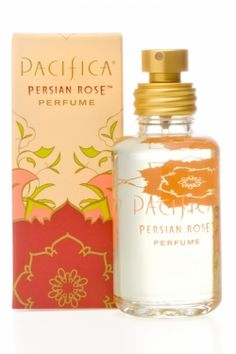 Persian Rose Spray Perfume  Fun, fresh and fantastic, Pacifica Spray Perfume is made with natural denatured alcohol and Pacifica's signature fragrance blends with essential and natural oils. Classic and elegant with Bulgarian rose, subtle violet, myrrh and delicate fruit.