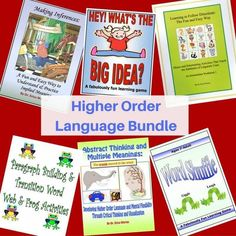 Here is a comprehensive bundle of games and activities that help to build and strengthen higher order language skills.  Great for therapists and parents too.  #higherorderlanguage #inferneces #mainideasanddetails Fun Learning Games, Reading Games, Educational Games, Reading Fluency, Fun Games, Dyslexia Teaching, Help Teaching, Grammar Skills, Writing Skills