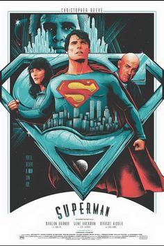 Superman by Matt Ryan Tobin - Home of the Alternative Movie Poster -AMP- Superman Movies, Superman Art, Superman Family, Superman Man Of Steel, Superhero Movies, Batman, Superman Poster, Action Comics 1, Bd Comics