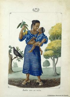 Mother with child Lozano, José Honorato Arte Filipino, Filipino Tribal, Philippines Outfit, Philippines Fashion, Manila, Filipino Fashion, Noli Me Tangere, Philippine Art, Tribal Costume