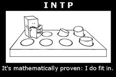 square peg in round hole: INTP #personality #MyersBriggs #MBTI
