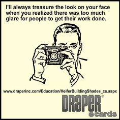 When making #daylighting plans, @DraperInc says don't forget to consider #glare! http://ow.ly/RiER6 #DRAPERecards