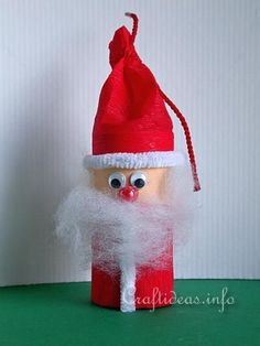 Paper Tube Santa Claus                                                                                                                                                                                 More