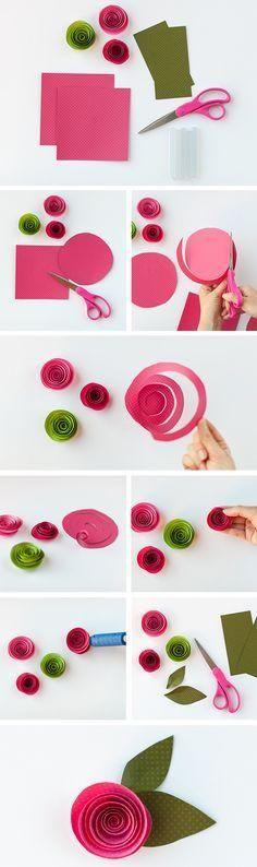 Anlatımlı Kağıttan Çiçek Yapımı