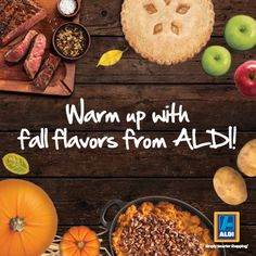 Tell ALDI your favorite fall flavors for a chance to win $50 in ALDI gift certificates!
