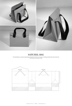 Satchel Bag – FREE resource for structural packaging design dielines