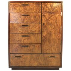 Burl Wood Gentlemen's Chest | From a unique collection of antique and modern dressers at https://www.1stdibs.com/furniture/storage-case-pieces/dressers/