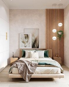 Our interior design studio in Marbella has recently completed new project - small apartment for two, inspired by spring nature. Room Design Bedroom, Modern Bedroom Design, Room Ideas Bedroom, Home Room Design, Home Decor Bedroom, Interior Design Living Room, Ikea Bedroom, Interior Design For Apartments, Bed Room