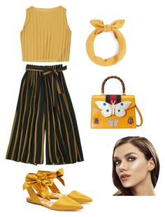 """""""Casual summer look #2"""" by tamaguccis on Polyvore featuring Sam Edelman and Gucci"""
