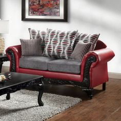 Myron Love Seat SM7501-LV $450 Description: Create a never-before-seen living room with this unique yet traditional styled love seat. The intricate wood trim accentuating the front of the love seat draws attention to the rolled arms. Soft chenille fabric can be found along the padded foam cushions while multiple loose back pillows provide added comfort for relaxing. Features : Traditional Style Chenille Fabric Intricate Wood Trim Loose Back Pillows High-Density Foam Cushions Pillows Included…