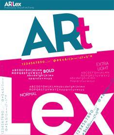 Font Tipografía #ArtLex_ Bold, Normal, Extrathin. Website, Window, Display, Lettering, Glass Display Case, Letters, Libros, Floor Space, Billboard