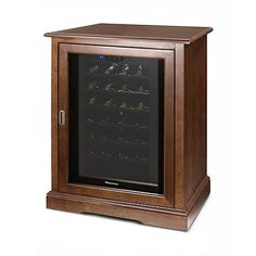 Siena Single Wine Credenza with 28 Bottle Touchscreen Wine Refrigerator (Walnut) at Wine Enthusiast - $899.00