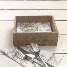 Rustic Wooden Napkin Holder Wooden Tableware Serviette