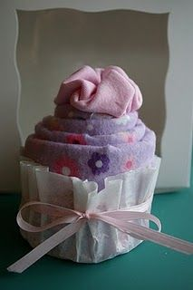 "Onesie cupcakes. Cute ""wrapping"" idea for the baby showers coming up!@Christy Rath"