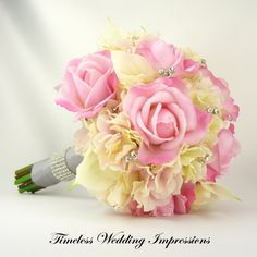 Wedding Bouquet Pink Bling
