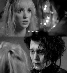 Edward Scissorhands this scene is funny and sad at the same time haha