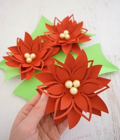 22 Feb Creative papercraft ideas for your free pull-out patterned papers in Mollie Makes magazine. Share using May 2017 … 10 Coolest and amazing paper craft ideas for kids Poinsettia Flower, Christmas Poinsettia, Christmas Paper, Christmas Crafts, Christmas Decorations, Leaf Template, Flower Template, Paper Flower Backdrop, Giant Paper Flowers