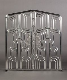 ART DECO Grill (Fireplace Screen) made in the style of Edgar Brandt's amazing work