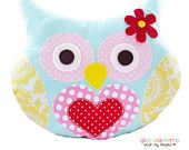 Owl Pillow Sewing Pattern Owl Bookend Or Owl by GandGPatterns