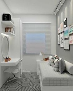 small bedroom ideas 2018 – kleine slaapkamerideeën 2018 – Share your vote! Tiny Bedroom Design, Small Room Design, Design Room, Interior Design, Room Ideas Bedroom, Small Room Bedroom, Modern Bedroom, Bedroom Decor, Bedroom Themes
