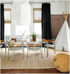 I love that the teepee is in the dining room :)