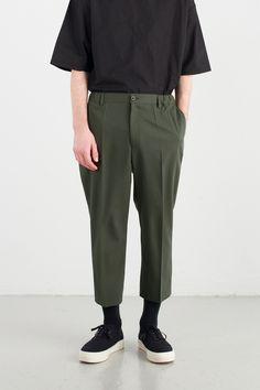 Menswear | H.W. Pant, Olive, 65% Polyester, 35% Viscose
