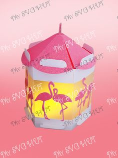 A gorgeous Flamingo theme battery tea light lantern This is a digital download  The lantern measures approx 4.75w x 4.75 front to back x 5 high  I used a battery tea light for the lighting. The instant download formats available for this design are SVG for a variety of electronic cutting machines DS.svg for Cricut Design Space  theres a Scan and Cut zip folder and a Studio compatible zipped folder for Silhouette     Have the freedom of choosing your own colour. Please remember to lock the…