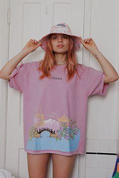 Sun Cherry Blossoms Female V-Neck T-Shirt Short Sleeve