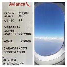 Destino para hoy #bogota #colombia #venezuela #TengoUnaSonrisaOdontosaludYTu #avianca by jorgevergararodgers