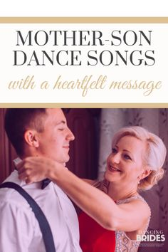 20 Mother-Son Dance Songs With A Heartfelt Message. Take a listen and choose your favorite (includes free wedding song checklist) at Mother Groom Dance Songs, Mother Son Wedding Songs, Unique Wedding Songs, Mother Son Dance Songs, Mother Song, Nontraditional Wedding, Free Wedding, Wedding Ideas, Wedding Stuff
