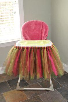 Highchair Tutu - YOU CHOOSE Custom Color(s) - Birthday High Chair Tutu Skirt Decoration