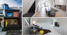 This semi-detached home in Toronto received a contemporary redesign