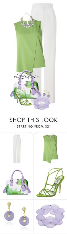 """7/02/17"" by longstem ❤ liked on Polyvore featuring Amanda Wakeley, Dorothy Perkins, Badgley Mischka and Glitzy Rocks"