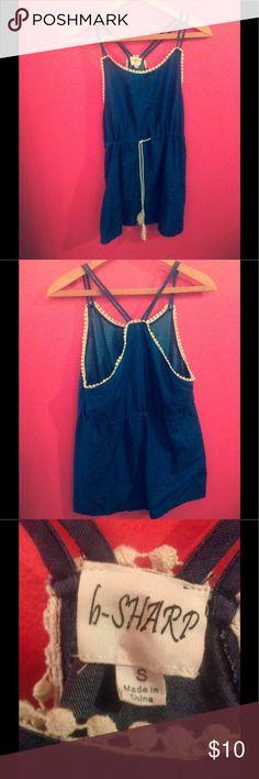 Denim Summer dress Size small denim dress, never worn it was a little to short for me! b-sharp Dresses Mini