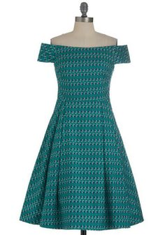 Kettle Corn Dress in Green Boats. Very 50's- my favorite time period for fashion aside from modern.