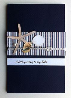 Card, Karte, Kort - shell, starfish, seaside, beach, nautical, ocean, sea, summer #majadesign paper & Tilda starfish and shells - JKE