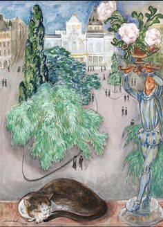 """Nils Dardel (1888 -1943), 1918, """"From the artist's atelier in Nybroviken"""" (Stokhholm)."""