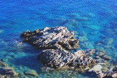 Rocky spot in Agali beach Greek Sea, Greek Islands, More Photos, Greece, Beach, Water, Outdoor, Beautiful, Greek Isles