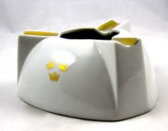 Vintage Porcelain Swedish American Line Ashtray by LuckySevenVintage, $28.00