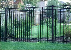DIY: Horizontal Shadow Box Fence Installation Ornamental Fencing, Iron Fence & Wrought Iron Fence In Rod Iron Fences, Wrought Iron Fences, Front Yard Fence, Dog Fence, Pallet Fence, Fence Landscaping, Backyard Fences, Shadow Box Fence, Metal Gates