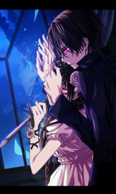omg he's trying to suffucate her xD... jk...but look at their eyes and yuki has some pretty big hands look under kaname's hand.. wow yuki...bear hands..