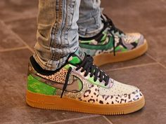 Air Force 1, Nike Air Force, Dream City, Cheetah Print, Smooth Leather, Snake Skin, Camouflage, Sneakers Nike, Lace Up