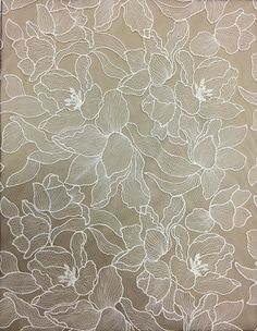 Couture Embroidery, Lace Embroidery, Hand Embroidery Designs, Embroidery Stitches, Embroidery Patterns, Machine Embroidery, Bridal Fabric, Lace Fabric, Lace Painting