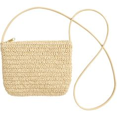 H&M Straw shoulder bag (44 MYR) ❤ liked on Polyvore featuring bags, handbags, shoulder bags, purses, natural, hand woven bags, purse shoulder bag, white shoulder handbags, woven handbags and man shoulder bag
