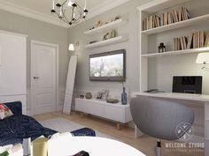 Проект однокомнатной квартиры «Город гармонии» | Welcome-studio