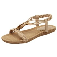 FancyStar Women's Beaded Lace Beach Thong Sandals *** Click image to review more details.