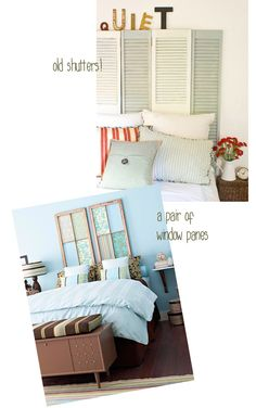 Window pane and shutter headboards