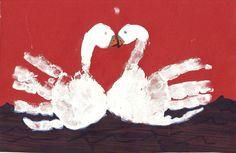 FARM theme: swan hand prints