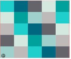 Pt, Fleece deken Gypsy Patchwork - Aqua/Blauw